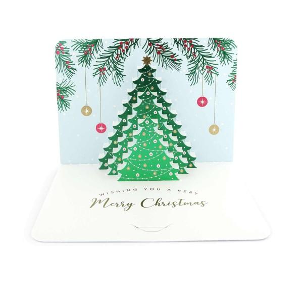 Pop-up-Karte Weihnachtsbaum