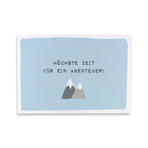 Postkarte Höchste Zeit für Abenteuer