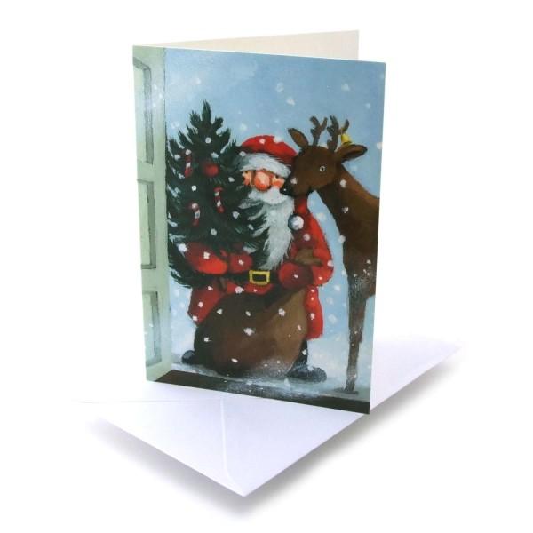 Weihnachtskarte Weihnachten steht vor der Tür