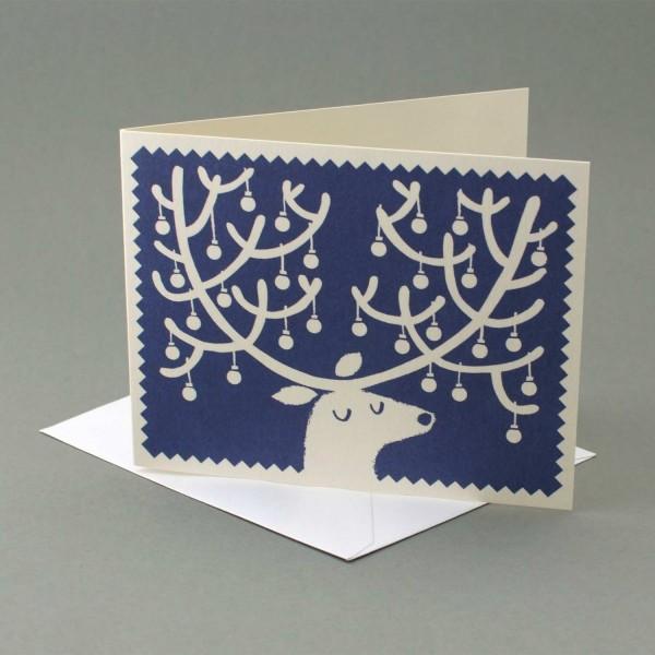 Weihnachtskarte Schmucker Hirsch