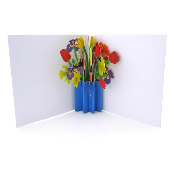 Pop-up-Karte mit Blumenstrauß