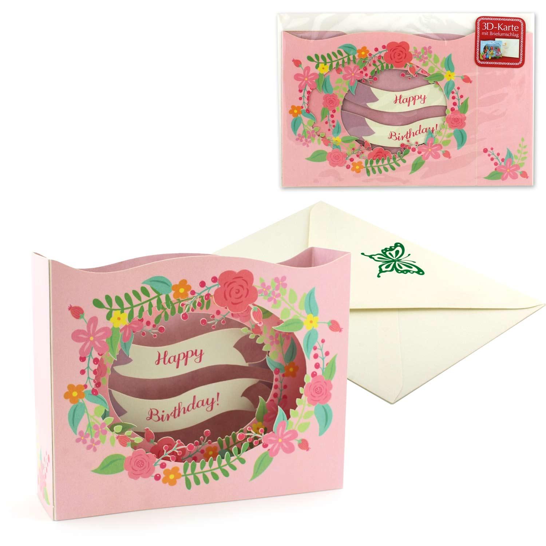 Vorschau geburtstagskarte happy birthday pop up diorama karte set mit briefumschlag