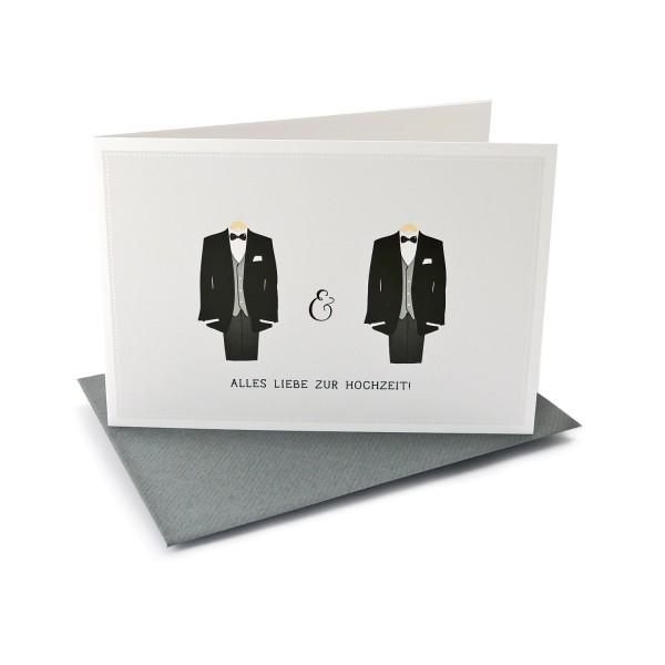 Hochzeitskarte Alles Liebe-Glueckwunschkarte
