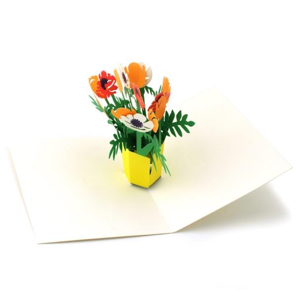 Pop-up-Karte mit Blumenstrauß aus der Moma-Kollektion