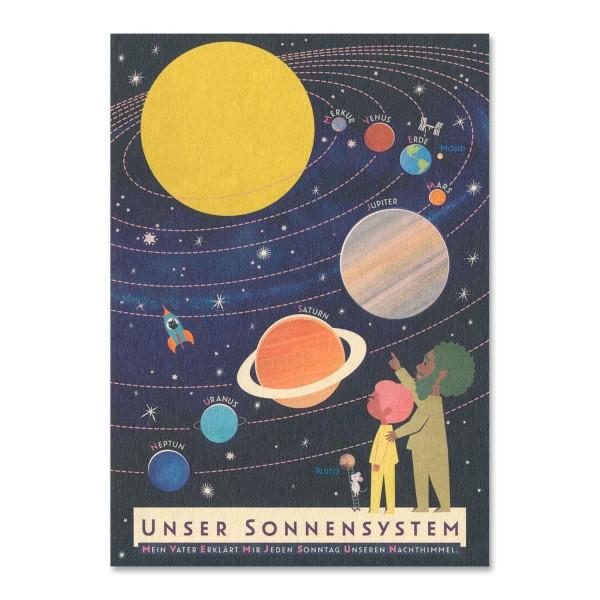 Postkarte Unser Sonnensystem