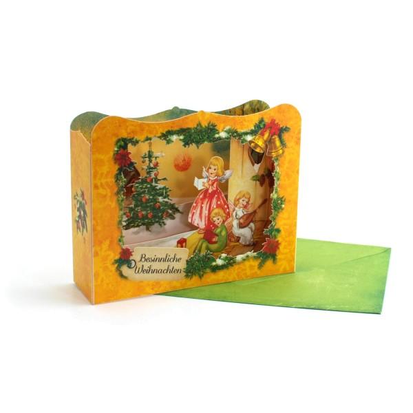 Besinnliche Weihnacht– Pop up Karte / Diorama Weihnachtskarte