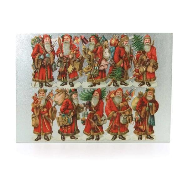 Postkarte Weihnachtsmänner