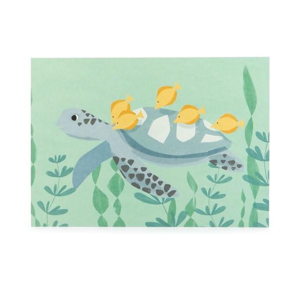 Postkarte Meeresschildkröte