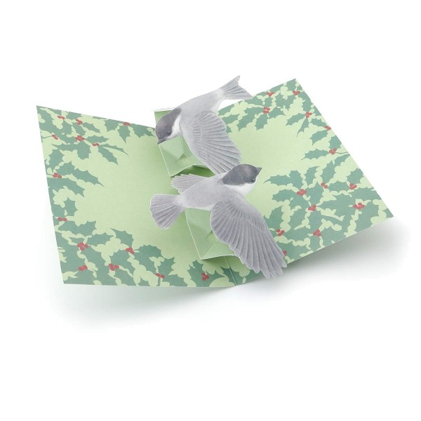 "Pop-up-Karte ""Fliegende Vögel""-Weihnachtskarte"
