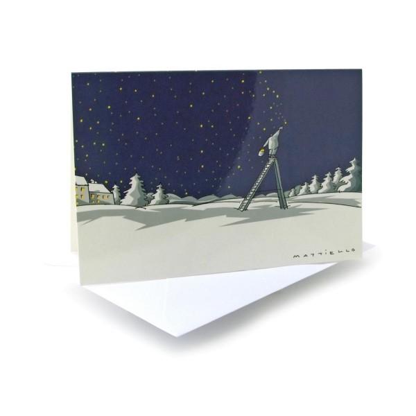 Weihnachtskarte Nachtschicht