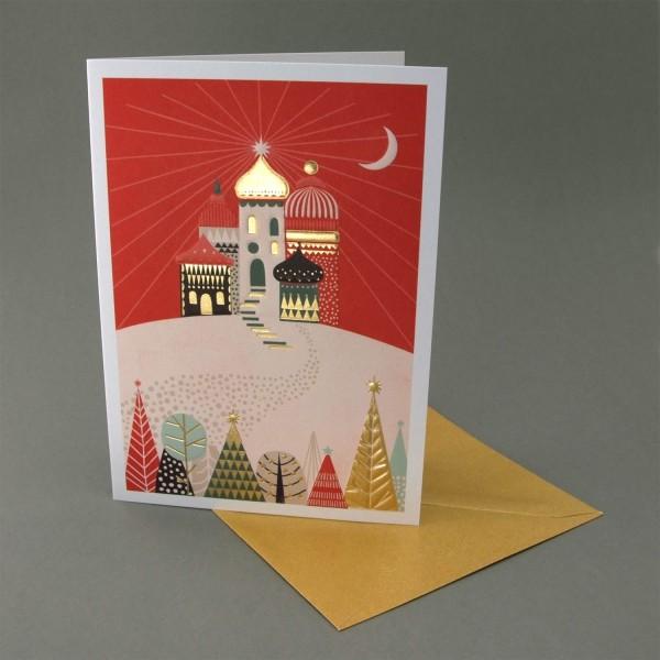 Klappkarte Strahlende Weihnacht Letterpress