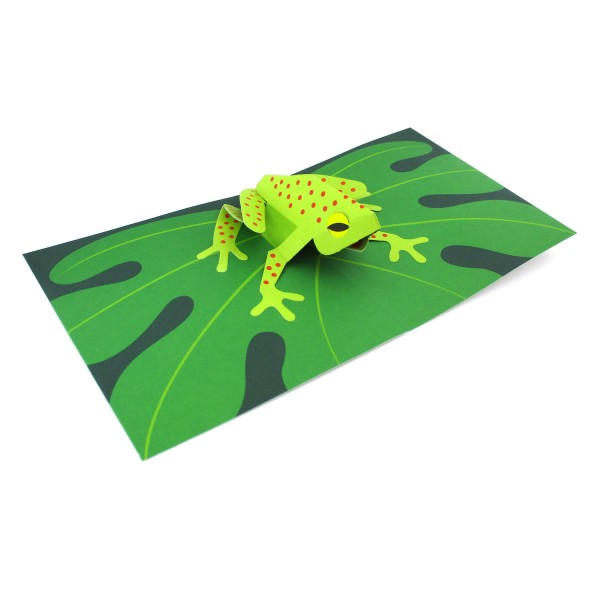 Popupkarte Frosch