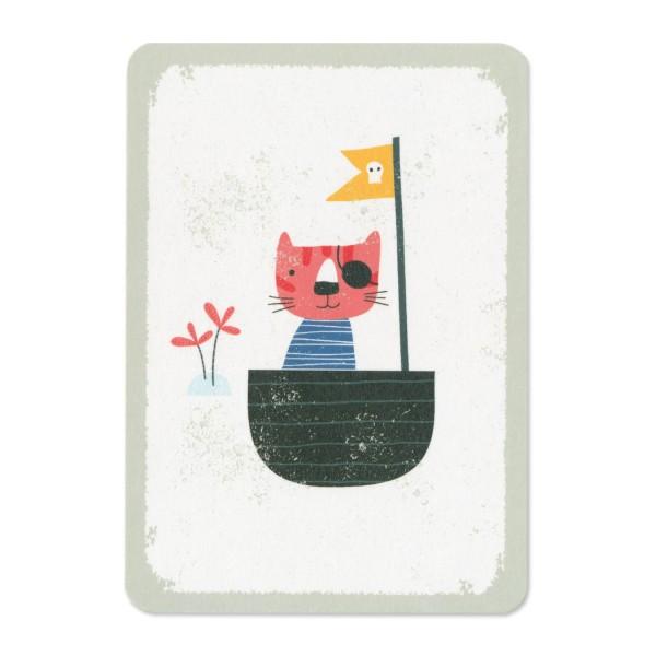 Postkarte Piratenkatze