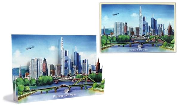 Ansichtskarte Frankfurt - Pop-Up Karte Stadtmotiv