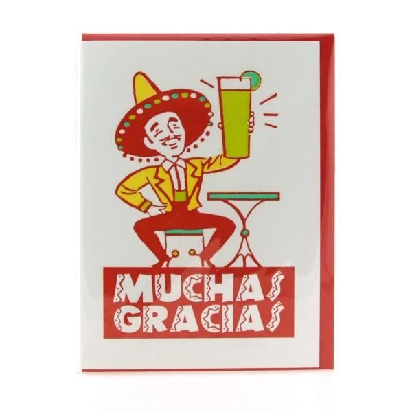Klappkarte / Letterpresskarte Muchas Gracias