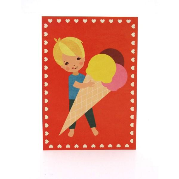Postkarte lecker Eis