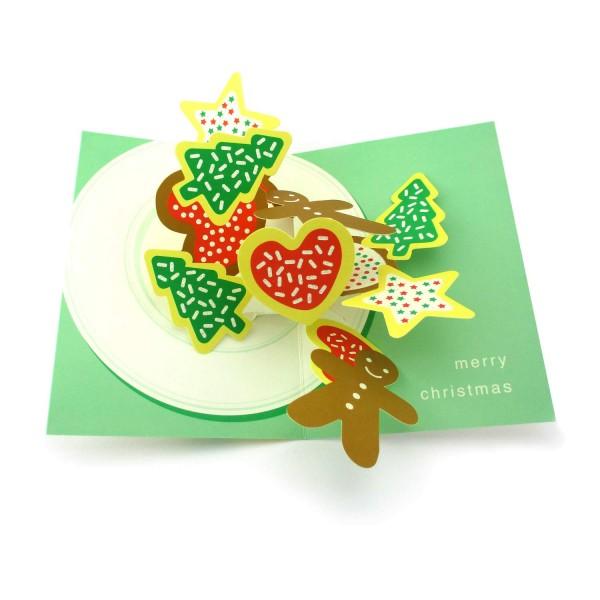 Pop-up-Karte Christmas Cookies