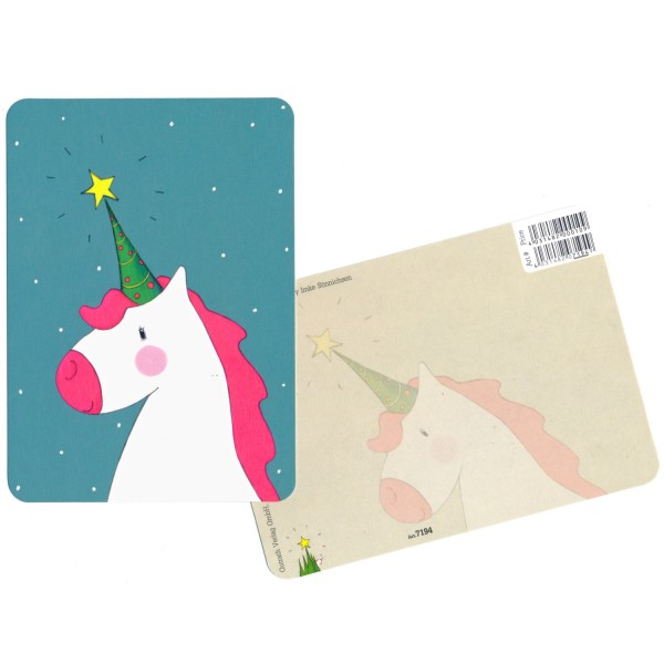 Postkarte Einhorn