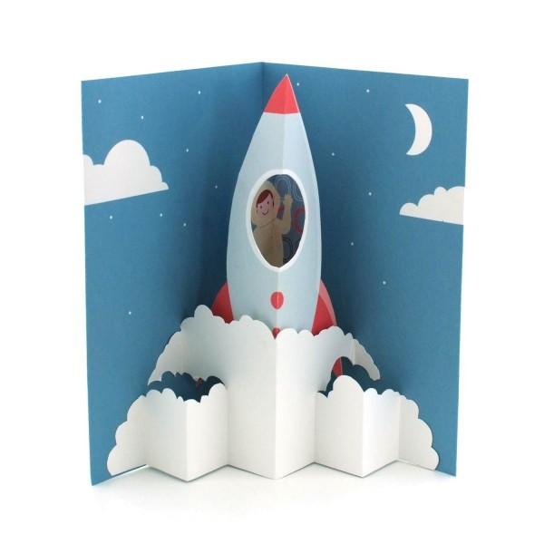 Popupkarte Startende Rakete