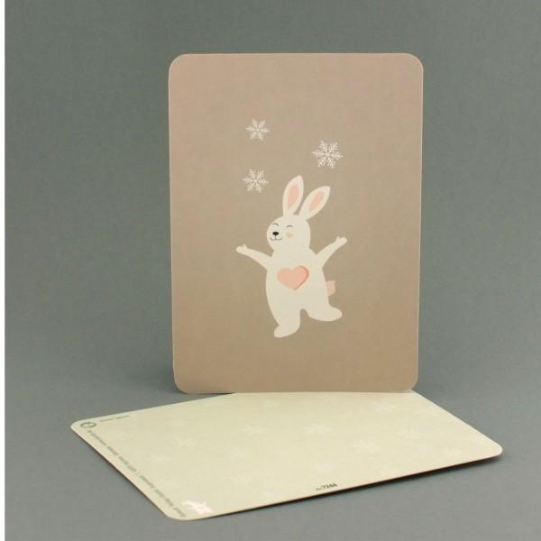 Postkarte Schneehase