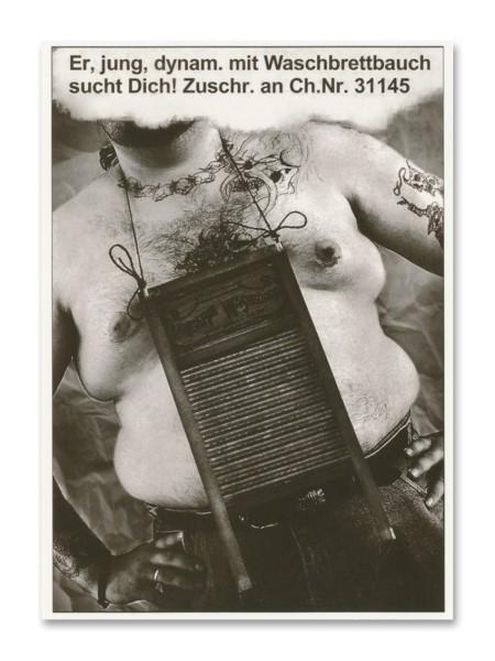 Postkarte Waschbrettbauch