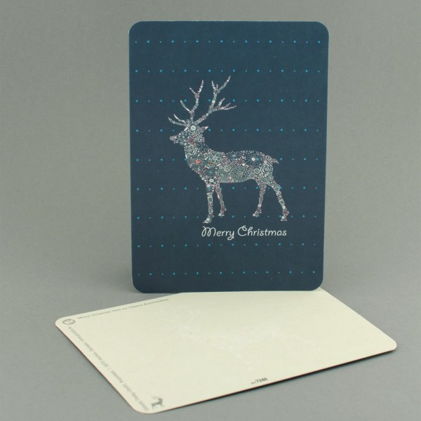 Postkarte Weihnachtshirsch