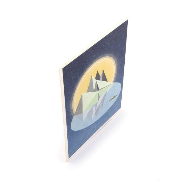 """Postkarte """"Kanufahrer"""" aus Finnpappe"""