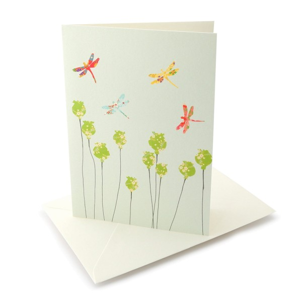 Grusskarte Bunte Libellen