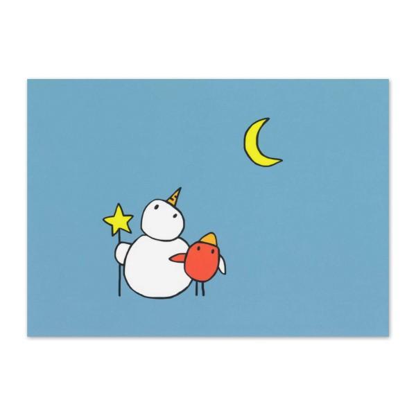 Postkarte Die Mondgucker