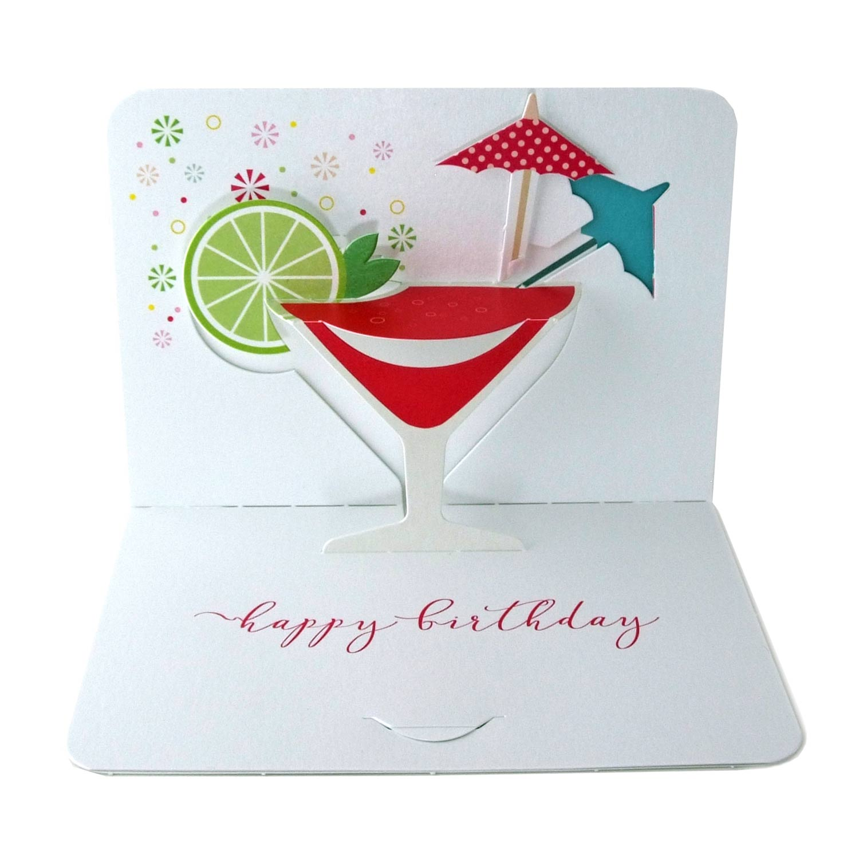 Cocktail Karte.Pop Up Karte Cocktail