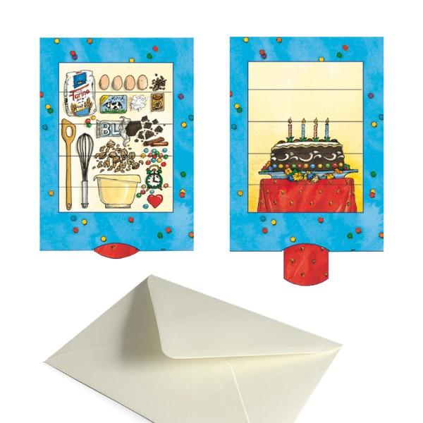 Geburtstagskarte Geburtstags-Torte - Lebende Einladungskarte