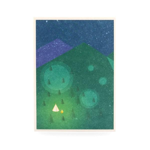 Postkarte Zelt