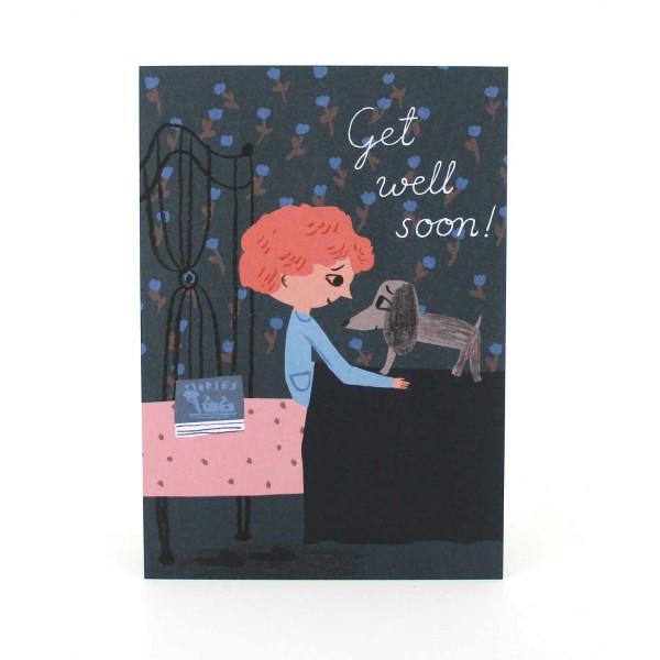 Postkarte Get well soon